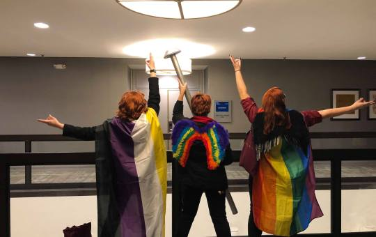 Good Omens Cosplayers at Dragon Con