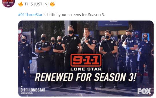 9-1-1 Lone Star Season 3 Renewal