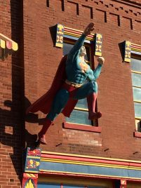 Superman on the building 1