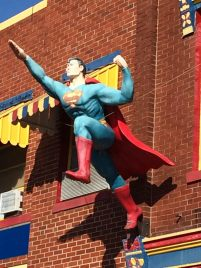 Superman on the building