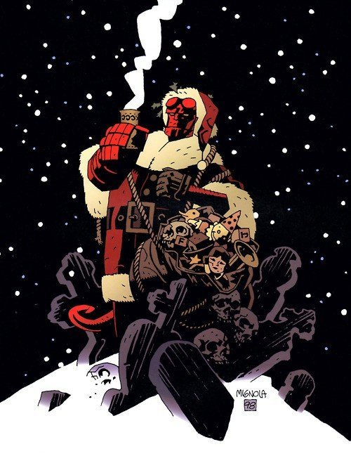 Hellboy Santa by Mike Mignola