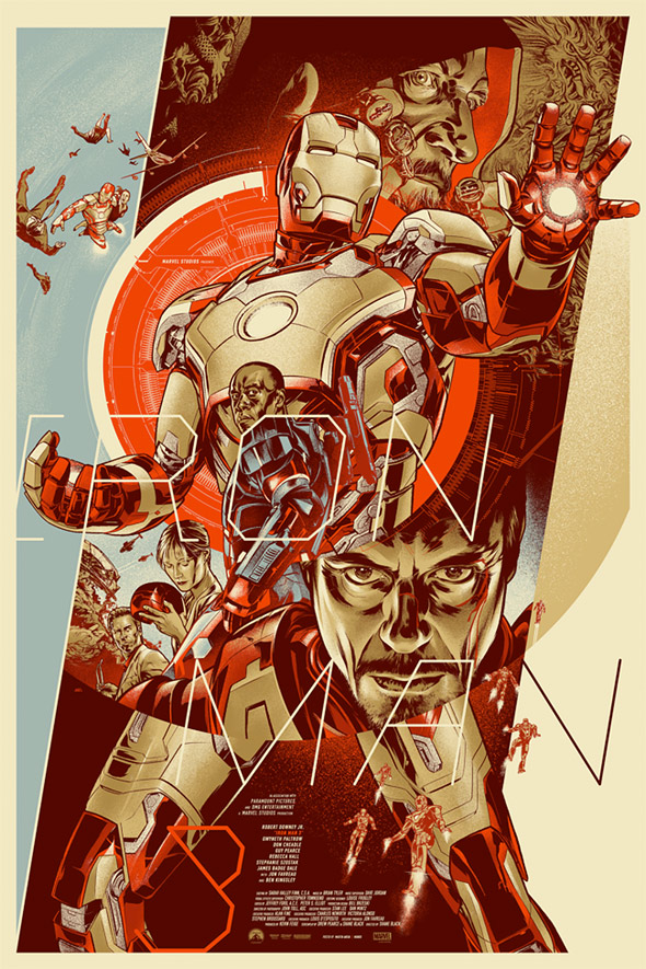Iron Man 3 Mondo poster by Martin Ansin