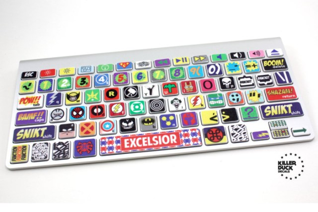 Macbook Superhero Keyboard Skin