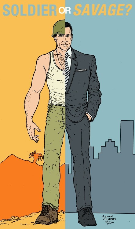 Mad Men's Don Drapper by Ramon Villalobos after Joe Kubert