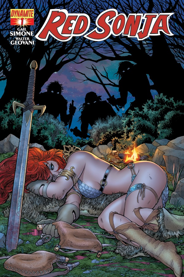 Red Sonja #1 cover by Amanda Conner