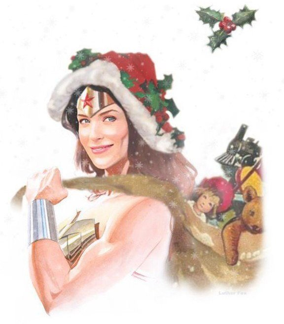 Wonder Woman Santa by Nigel Halsey