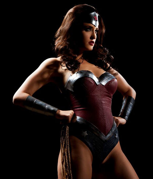 Wonder Woman cosplayed by Kimberly Kane
