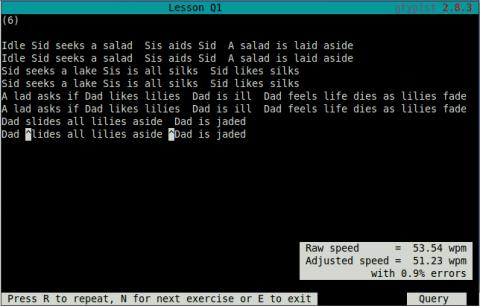 gnu typist