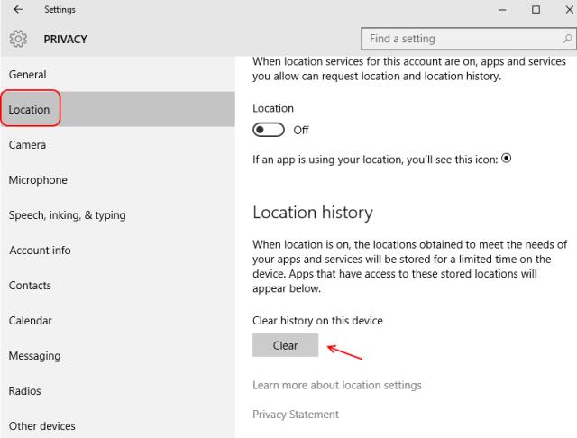 clear-location-cache-windows-10
