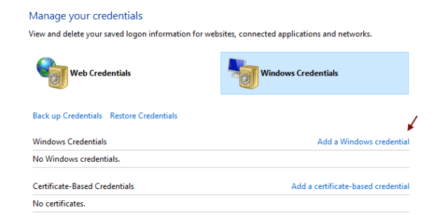 Add Windows Credentials Min