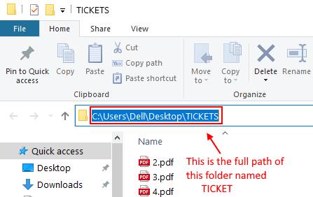 Full Path Folder Min