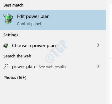 Edit Power Plan