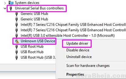 Update Drive Unknown Usb Device