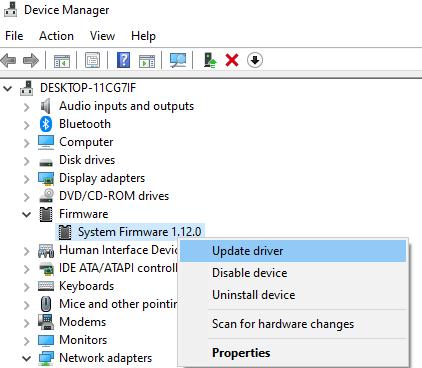 Update System Firmware