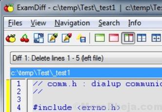 Examdiff File Compare