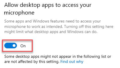 Allow Desktop Apps To Access On Min Min