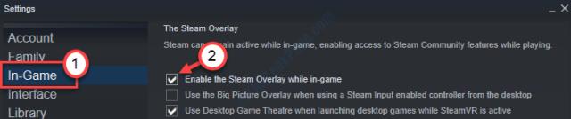 Eanable Steam Overlay