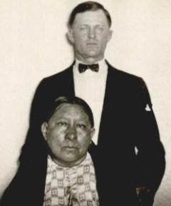 Mollie Burkhart with husband Ernest.