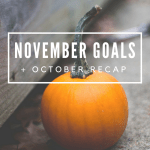 November Goals & October Recap