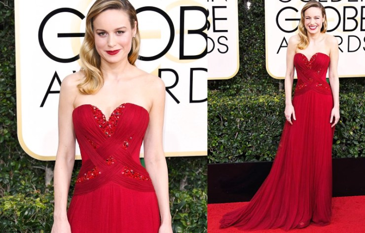 Golden Globes Best Dressed - Brie Larson // The Geeky Fashionista