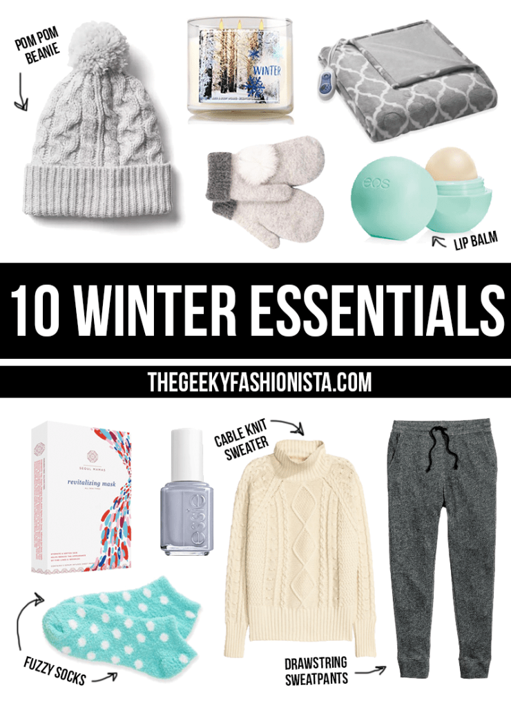 10 Winter Essentials // The Geeky Fashionista