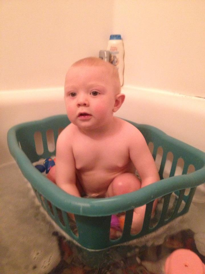 Laundry Basket Baby Tub Thrifty Thinking The Geeky Parent