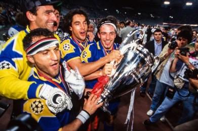 Alex Del Piero festeggia l'ultima Champions vinta dalla Juventus