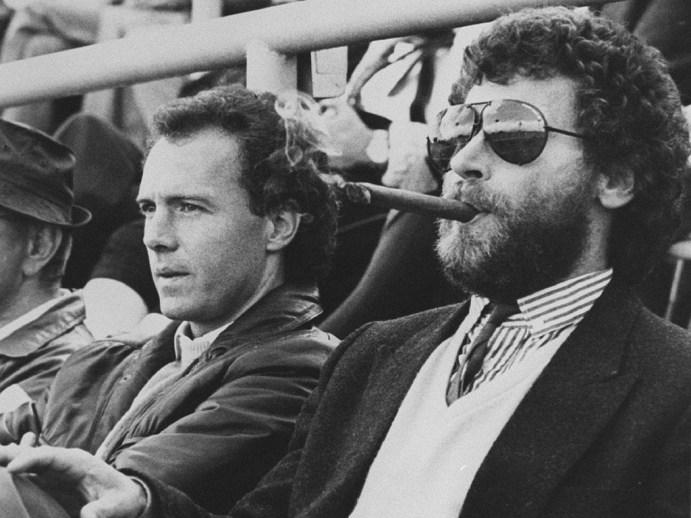 Breitner e Beckenbauer in tribuna