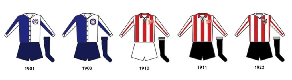 Evoluzione delle maglie dell'Athletic Club
