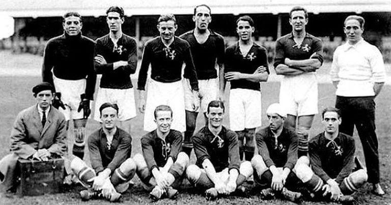 Una delle foto di squadra dell'Athletic Club, rappresentanti del Calcio Basco
