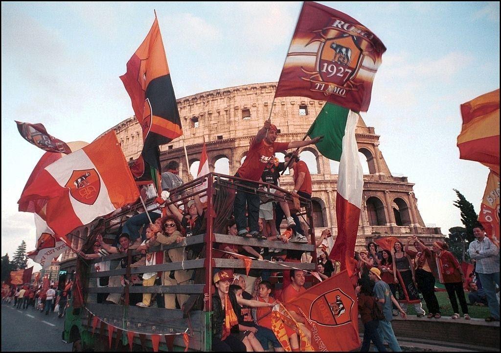 Festeggiamenti per lo Scudetto della Roma nella stagione 2000/01