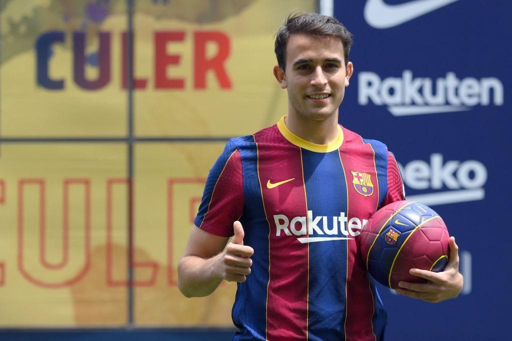 Eric Garcia alla presentazione con il Barcellona