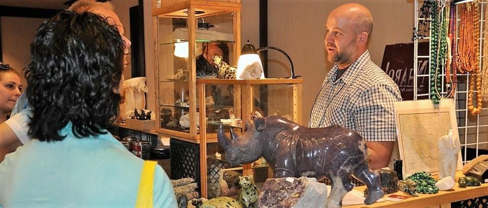 Unique African minerals and sculptures