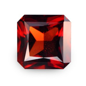 Natural Gemstone, Jewellery, Jewelry, Garnet, Pyrope, Africa, Mozambique, Red, Square, Radiant, The Gem Monarchy, Gem Monarchy, TheGemMonarchy, GemMonarchy, Monarchy, Gems