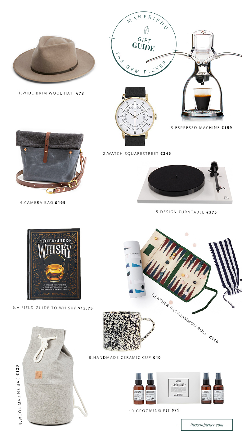 The christmas gift guide for your manfriend, husband, boyfriend or whatever you call him