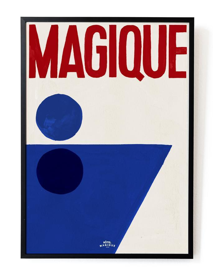 7 past trends - A shopping selection - hotel magique art print blue