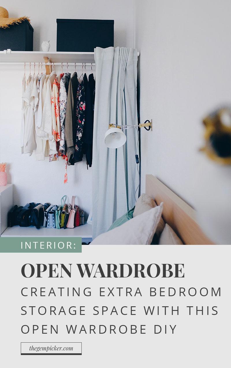 Open Wardrobe DIY by The Gem Picker
