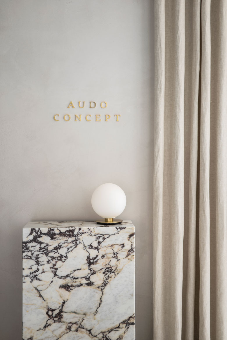 The Audo's marble detail