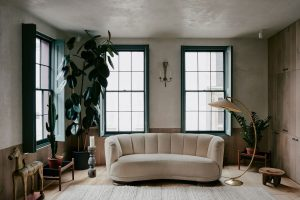 living room of wabi-sabi elegance