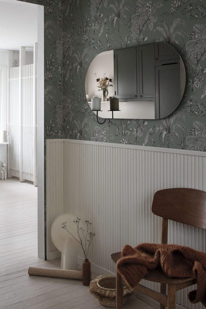Decorating with wallpaper sandberg moa juniper