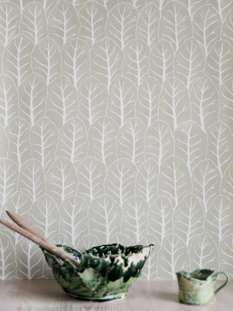 decorating with wallpaper ulricehamns by langelid von bromssen coleslaw laurel green