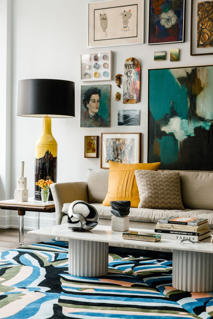 Picking wall art for your home - coherent color palette
