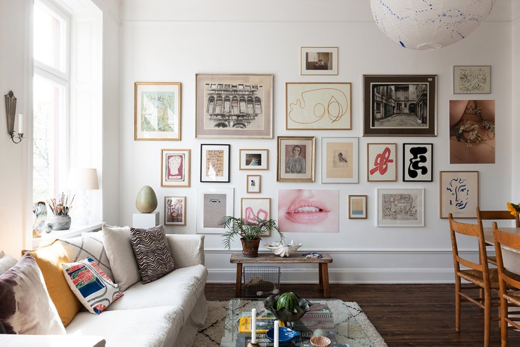 gallery wall by emly crona for wall of art
