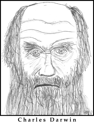 Charles Darwin Sketch by M.R.P. - MRI Scans of Brain - morality - evolution - James Rachels - C.S. Lewis