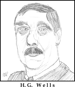 H.G. Wells Sketch by M.R.P. - The Island of Dr. Moreau - evolution, humanity, animals, discovery