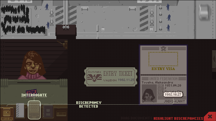Papers, Please Basic Screen - Papers, Please analysis - Lucas Pope - literary theory, new criticism, Russian formalism
