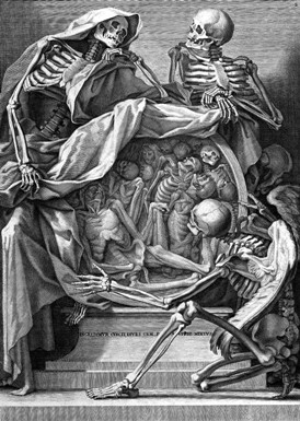 Allegory of Death (wellcome images) - The Death of Ivan Ilyich - Leo Tolstoy - authenticity, existentialism