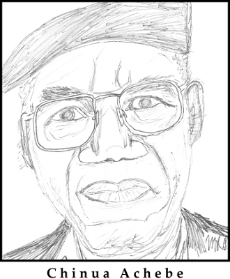Chinua Achebe Sketch - Joseph Conrad - Heart of Darkness - An Image of Africa - racism, writing