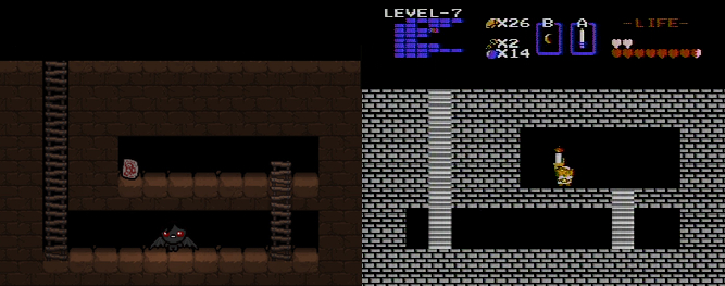 Legend of Zelda and Binding of Isaac Comparison Screenshot - The Binding of Isaac: Rebirth - The Legend of Zelda - Edmund McMillen