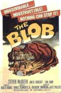 The Blob movie poster - unintentional comedy